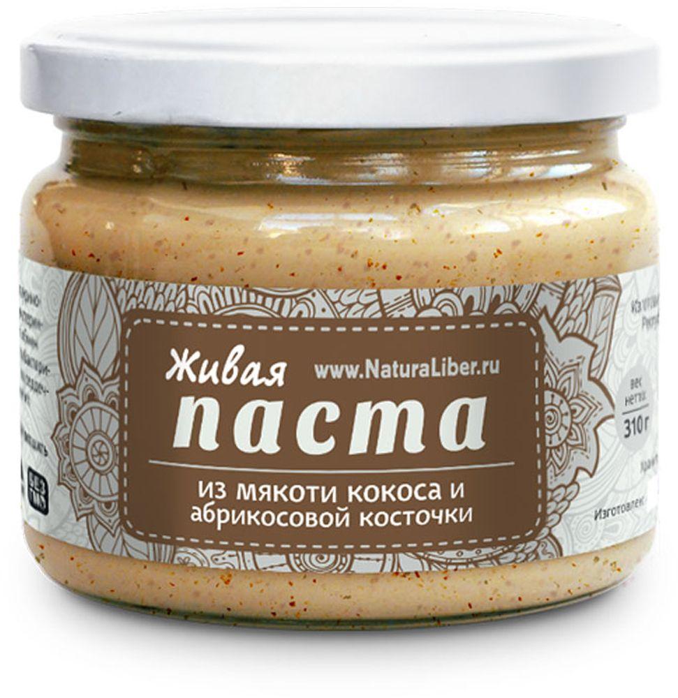 NaturaLiber паста из мякоти кокоса с абрикосовой косточкой, 310 г