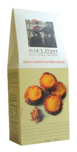 Elsas Story печенье сливочное с карамелизированным сахаром, 150 гК22408Традиционной для Эльза Стори является серия сладкого печенья в упаковке Tall Carton Box