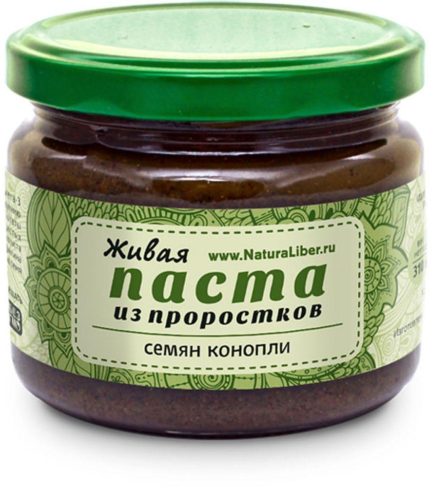 NaturaLiber паста из семян конопли (проростки), 310 г
