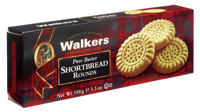 Walkers Круги печенье песочное, 150 гК0140Песочное печенье Walkers Круги - высококачественное печенье, произведенное согласно традиционному рецепту с использованием самых лучших натуральных ингредиентов.