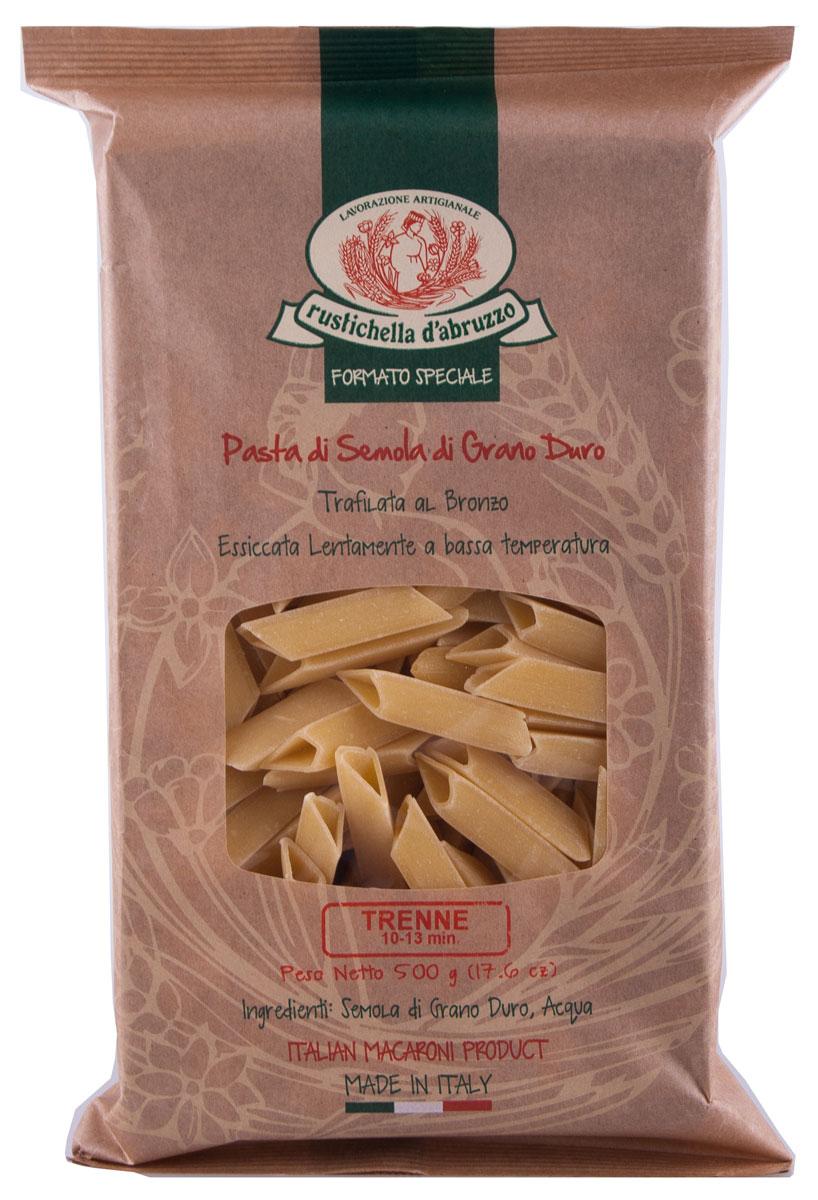 Rustichella паста Трене, 500 г88141Тренне - это итальянская паста необычной треугольной формы. Она изготавливается из твердых сортов пшеницы. Рекомендуется использовать ее для приготовления салатов или подавать с классическими средиземноморскими соусами.