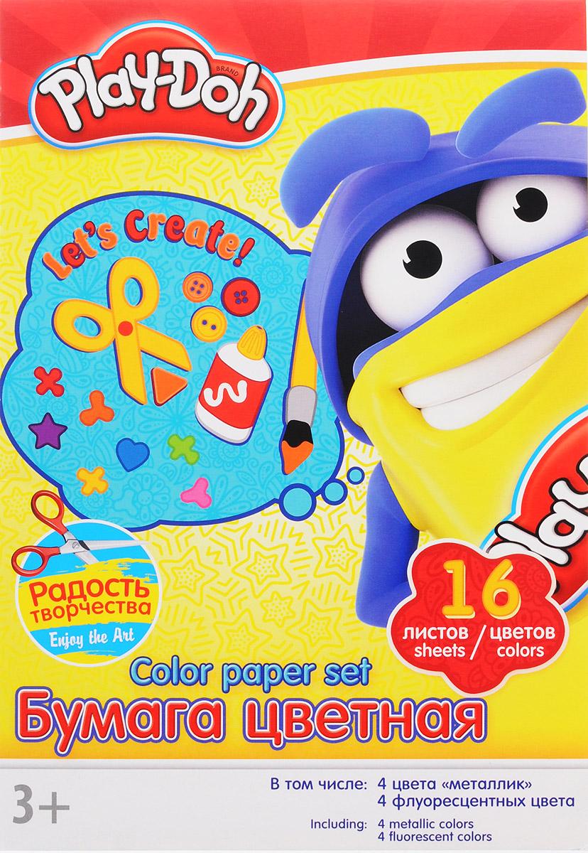 Play-Doh Цветная бумага 16 листовPD1/2Цветная бумага Play-Doh формата А4 идеально подходит для детского творчества: создания аппликаций, оригами и многого другого. В упаковке 16 листов бумаги 16 цветов: золотистый, серебристый, желтый, красный, пурпурный, зелёный, голубой, фиолетовый, коричневый, черный, розовый металл, голубой металл, лимонный флюор, салатовый флюор, оранжевый флюор, розовый флюор. На обороте набора расположена игра на внимание Найди 2 одинаковых Додошки. Детские аппликации из цветной бумаги - отличное занятие для развития творческих способностей и познавательной деятельности малыша, а также хороший способ самовыражения ребенка. Рекомендуемый возраст: от 3 лет.