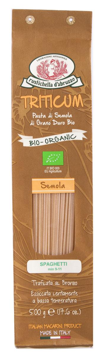 Rustichella паста Спагетти оригинальные, 500 г88291Спагетти – это один из видов итальянской пасты. Длинные тонкие спицы из пшеничной муки твёрдых сортов знакомы почти всем. Готовить их быстро и просто, спагетти очень универсальны. Приготовленные при низкой температуре спагетти Rustichella станут лучшим дополнением к любому соусу.