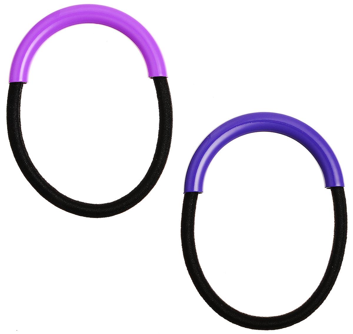 Резинка для волос Selena, цвет: фуксия, фиолетовый, 2 шт. 7006574570065745Набор резинок для волос Selena включает в себя две резинки, которые оформлены декоративными элементами из пластика. Элегантное украшение блестяще подчеркнет красоту вашей прически, а также поможет внести разнообразие в привычный образ.