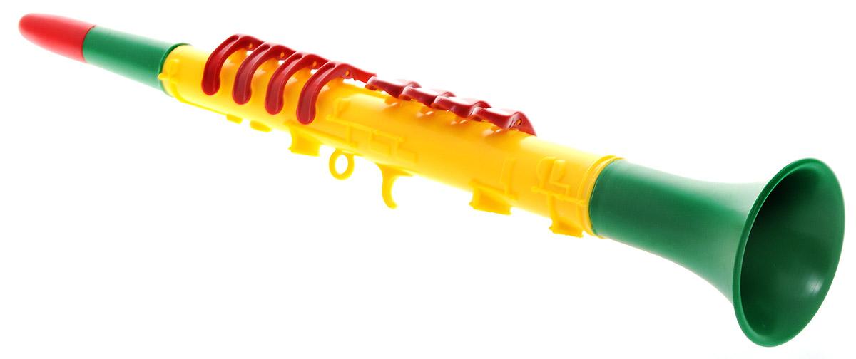 Domenech Музыкальная игрушка Кларнет цвет желтый зеленый красный03/09311_желтый, зеленый, красныйМузыкальная игрушка Domenech Кларнет представляет собой духовой инструмент, выполненный из пластика ярких цветов. На нем расположены восемь клавиш, которые нужно поочередно зажимать. Ребенок быстро освоит игру на кларнете и будет придумывать все новые и новые мелодии. Игра на этом замечательном инструменте поможет развить звуковое восприятие, концентрацию внимания и мелкую моторику рук ребенка. Порадуйте вашего малыша таким замечательным подарком!