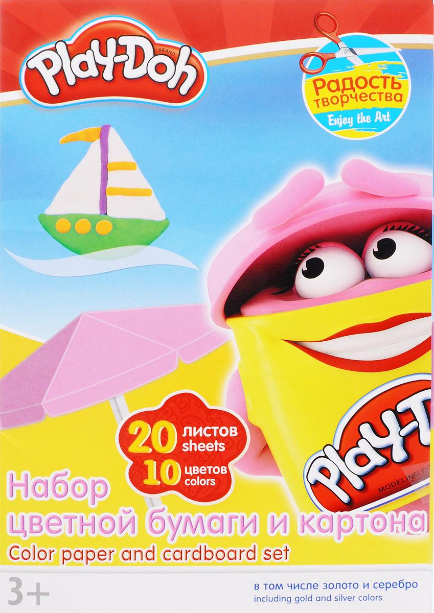 Play-Doh Набор цветной бумаги и картона 20 листовPD3/2Набор цветной бумаги и картона Play-Doh формата А4 идеально подходит для детского творчества: создания аппликаций, оригами и многого другого. В упаковке 20 листов бумаги и картона 10 цветов: золотистый, серебристый, желтый, красный, пурпурный, зелёный, голубой, фиолетовый, коричневый, черный. На обороте набора расположена игра Обведи по точкам. Данная игра прекрасно развивает мелкую моторику рук ребенка. Детские аппликации из цветной бумаги - отличное занятие для развития творческих способностей и познавательной деятельности малыша, а также хороший способ самовыражения ребенка. Рекомендуемый возраст: от 3 лет.