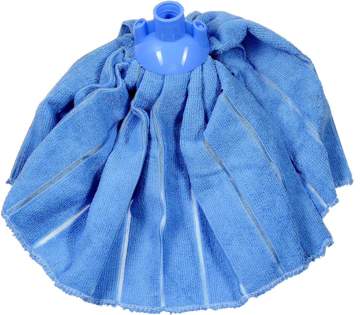 Насадка-юбка для швабры Home Queen, сменная, цвет: голубой58031Сменная насадка для швабры Home Queen изготовлена из микрофибры и пластика. Микрофибра обладает высокой износостойкостью, не царапает поверхности и отлично впитывает влагу. Насадка отлично удаляет большинство жирных и маслянистых загрязнений без использования химических веществ. Насадка идеально подходит для мытья всех типов напольных покрытий. Она не оставляет разводов и ворсинок. Сменная насадка для швабры Home Queen станет незаменимой в хозяйстве. Длина: 32 см. Диаметр по нижнему краю: 46 см.