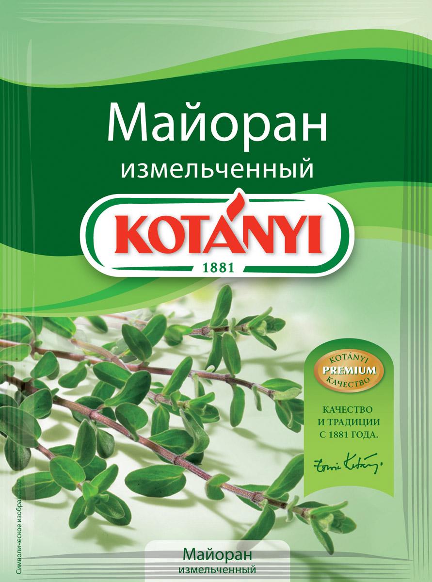 Kotanyi Майоран измельченный, 6 г153711Аромат майорана напоминает букет перца, мяты и кардамона. Благодаря бережному способу сушки майоран Kotanyi сохраняет эфирные масла, аромат которых заново раскрывается в процессе приготовления блюд. Применение: супы, салаты, соусы и соленья. Майоран также придаст восхитительный нежный вкус блюдам из мяса и дичи, жареного картофеля, бобовых, грибов, капусты.
