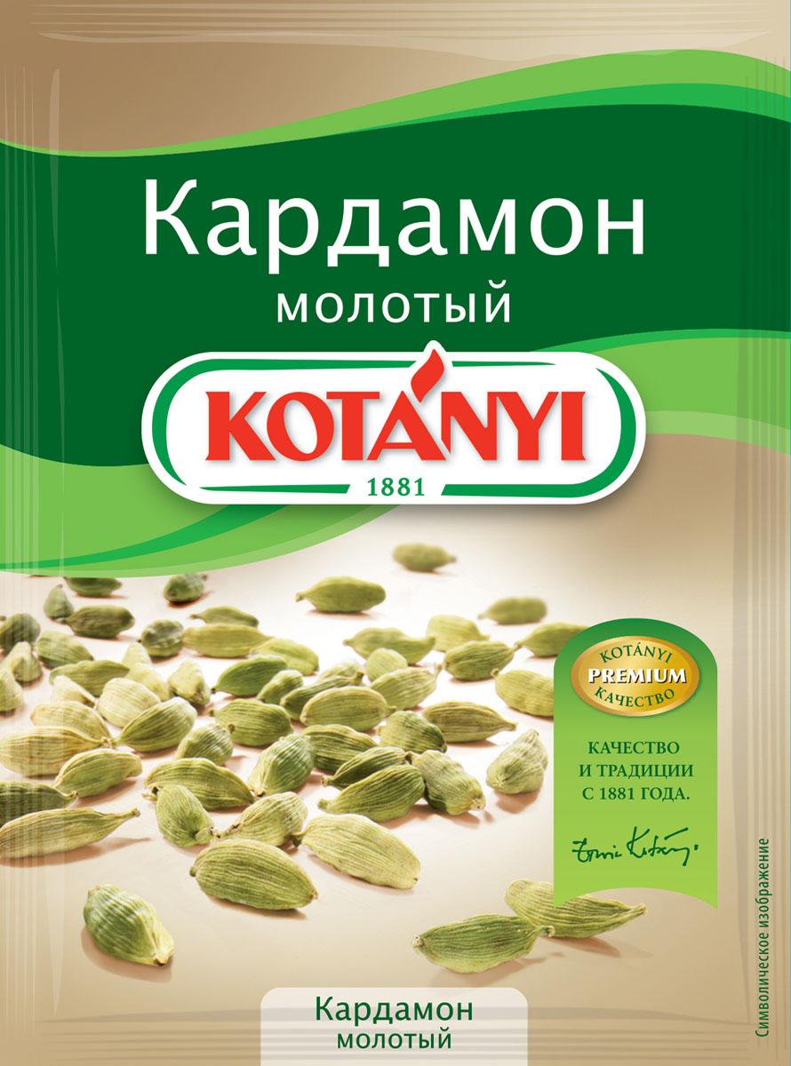 Kotanyi Кардамон молотый, 10 г150711Кардамон обладает ярким вкусом и ароматом, напоминающим эвкалипт. Кардамон Kotanyi придаст вашим блюдам пикантную восточную нотку. Применение: подходит для мясных блюд, а также для сладких блюд и выпечки, глинтвейна, кофе, чая и других горячих напитков.
