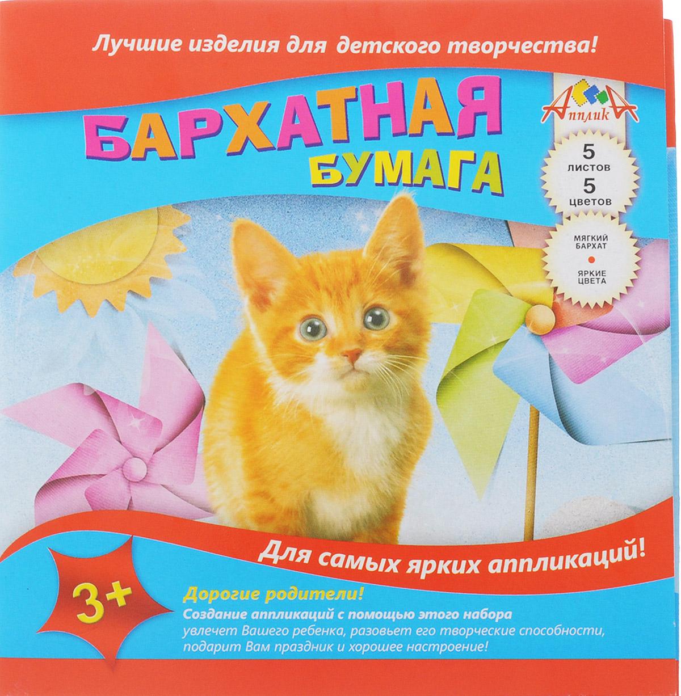 Апплика Цветная бумага бархатная Рыжий котенок 5 листовС0196-05Бархатная цветная бумага Апплика Рыжий котенок идеально подходит для детского творчества: создания аппликаций, оригами и многого другого. В упаковке 5 листов бархатной бумаги 5 цветов. Детские аппликации из цветной бумаги - отличное занятие для развития творческих способностей и познавательной деятельности малыша, а также хороший способ самовыражения ребенка. Рекомендуемый возраст: от 3 лет.