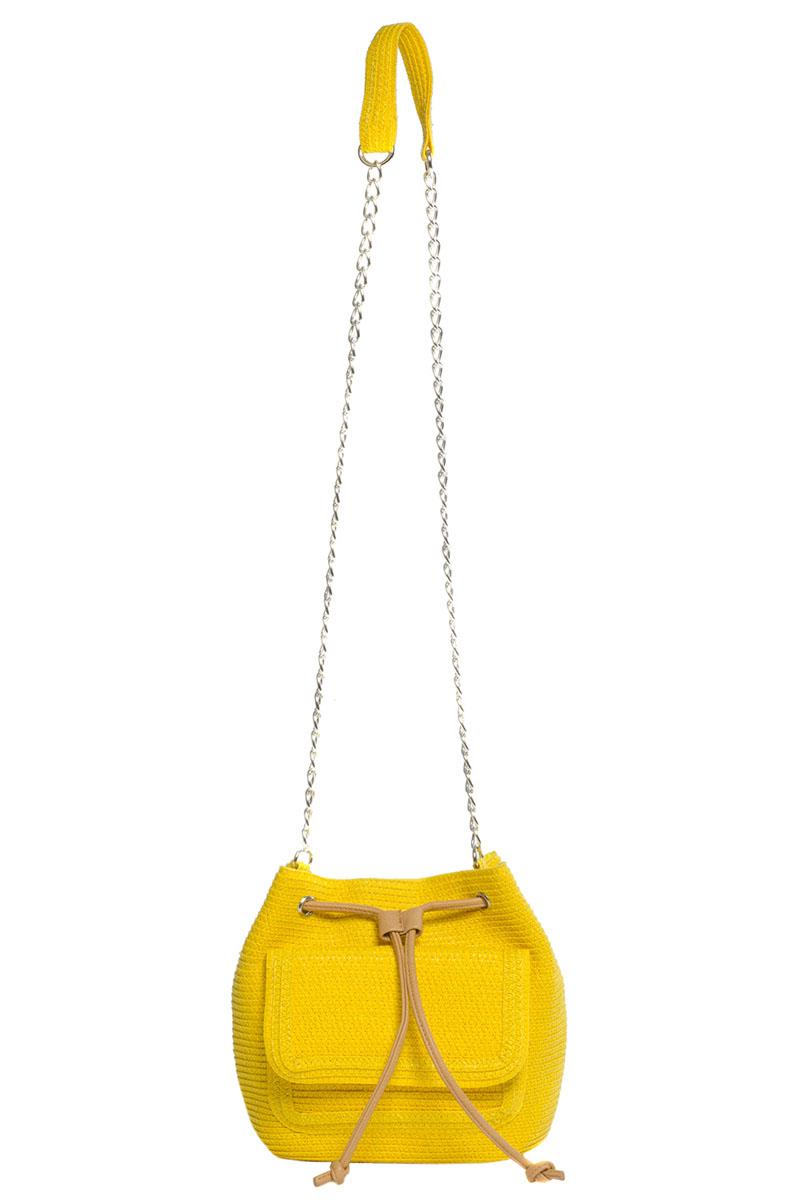 Сумка кросс-боди женская Moltini, цвет: желтый. 8J-16108J-1610