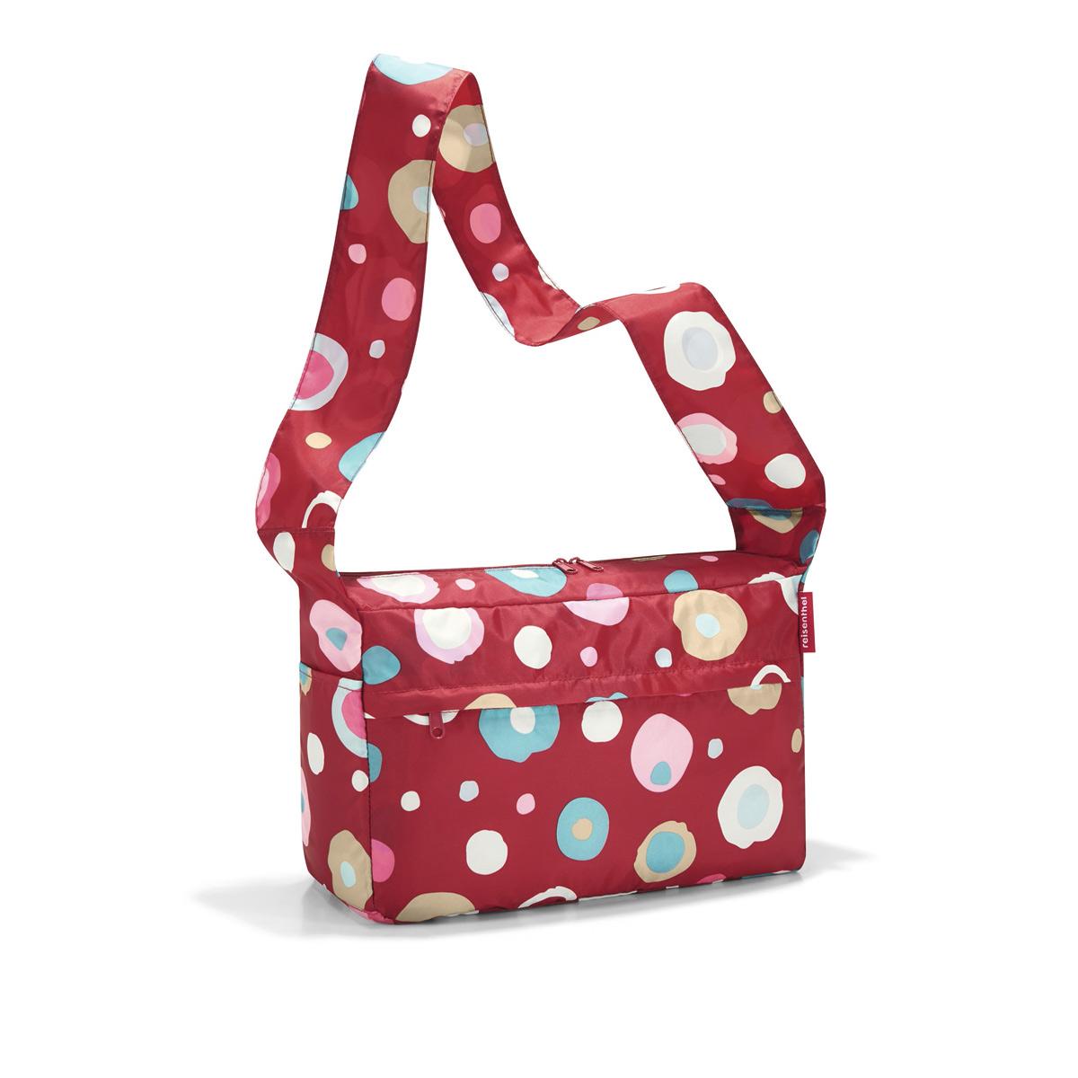 Сумка женская Reisenthel, складная, цвет: темно-красный, голубой, розовый. AL3048AL3048Стильная женская сумка Reisenthel изготовлена из текстиля с оригинальным принтом. Сумка имеет одно отделение, которое закрывается на застежку-молнию с двумя бегунками. Внутри имеется нашивной карман на застежке-молнии, в который сумка складывается и приобретает компактный вид. Снаружи, на передней стенке расположен накладной карман на застежке- молнии, по бокам - открытые накладные карманы. Изделие оснащено удобным плечевым ремнем.