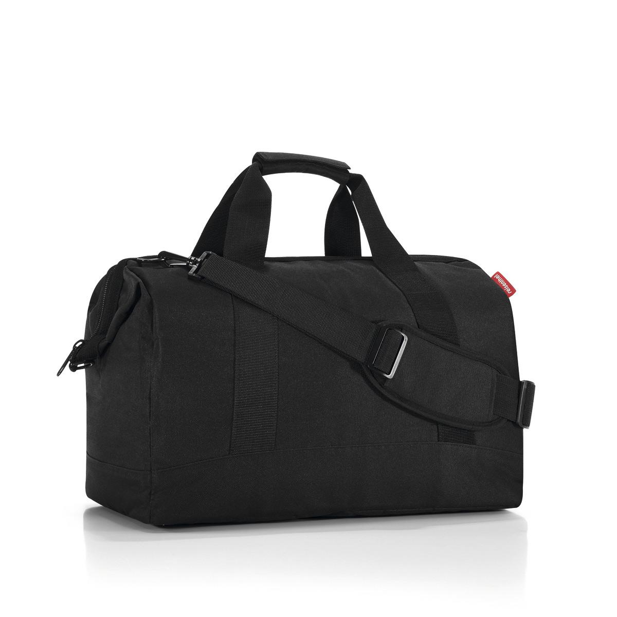 Сумка Reisenthel, цвет: черный. MT7003MT7003Сумка хоть куда - и в путешествие, и в спортзал. Вместит всё, от носков до пиджака. Приятные объемные стенки и дно создают силуэт, напоминающий старинные врачебные сумки. Застегивается на молнию, плюс внутрь встроены металлические скобы, фиксирующие её в открытом состоянии. Внутри 6 кармашков для организации вещей. Две удобные ручки и ремень регулируемой длины позволяют носить сумку так, как вам удобно. Объем - 30 литров.