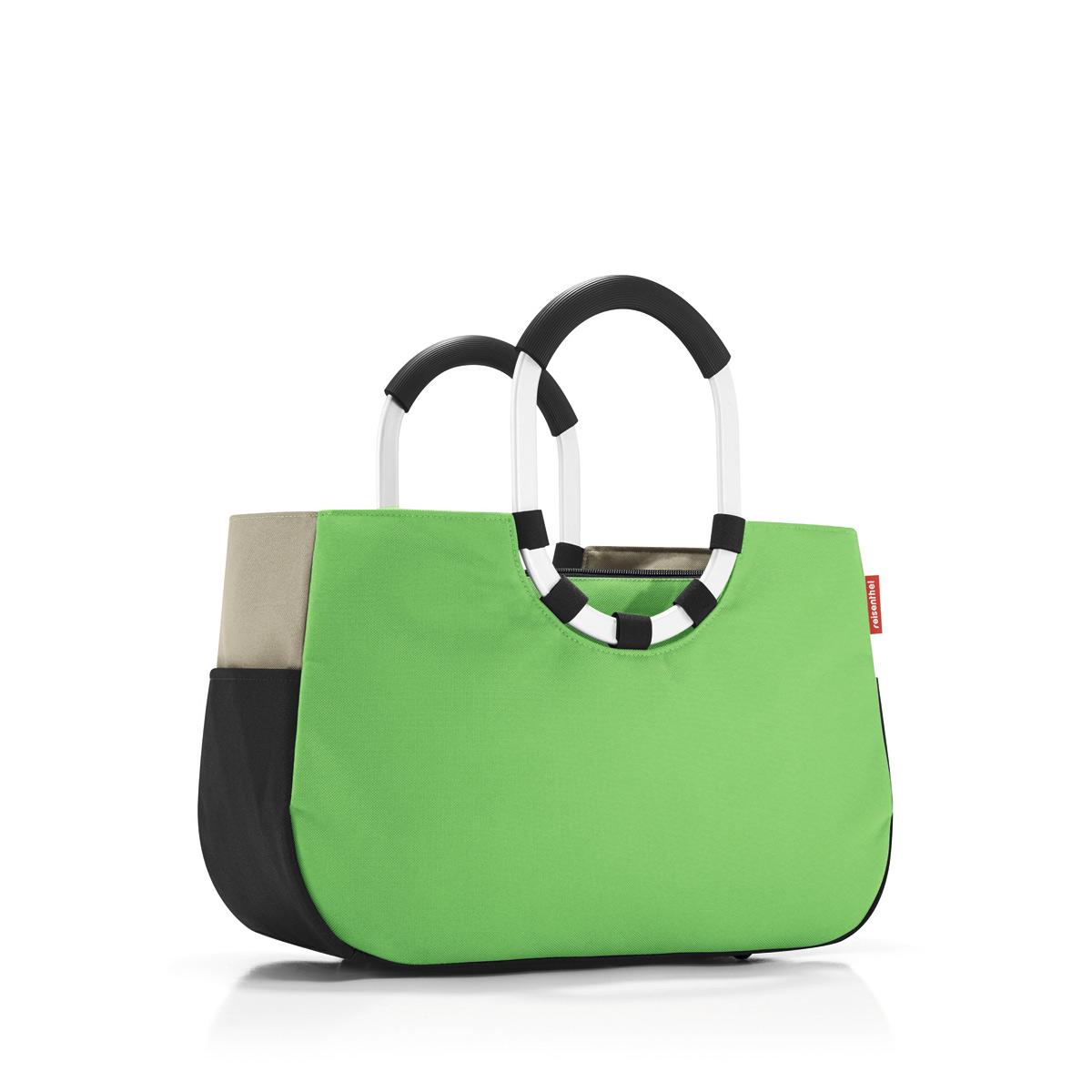 Сумка женская Reisenthel, цвет: зеленый, черный, темно-бежевый. OS5032OS5032Практичная женская сумка Reisenthel изготовлена из текстиля. Сумка имеет одно отделение, внутри которого находится прорезной карман на застежке-молнии. Снаружи, по боковым сторонам сумки расположены накладные открытые карманы. Изделие оснащено съемным отделением на застежке-молнии, которое пристегивается к сумке с помощью хлястиков с кнопками. Съемное отделение снаружи дополнено прорезным карманом на застежке-молнии и накладным открытым кармашком. Сумка оснащена двумя алюминиевыми ручками с прорезиненными накладками, которые фиксируются с помощью липучек. Основание изделия защищено от повреждений пластиковыми ножками.