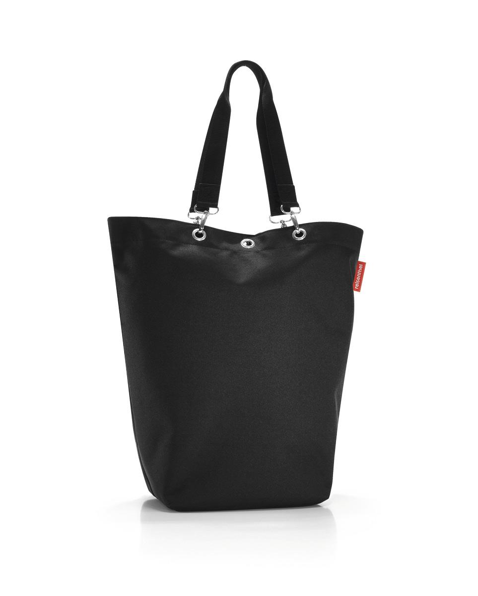 Сумка Reisenthel, цвет: черный. UC7003UC7003Вместительная сумка Reisenthel изготовлена из текстиля. Сумка имеет одно отделение, которое закрывается на застежку-молнию. Внутри расположены нашивной карман на застежке-молнии и накладной открытый карман. Сумка оснащена двумя съемными длинными ручками, позволяющими носить изделие на плече.