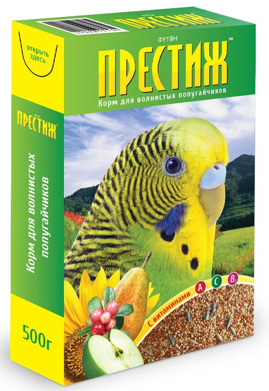 "Футон - Престиж Корм ""Престиж"" для волнистых попугаев, 500 г 4627092860013"