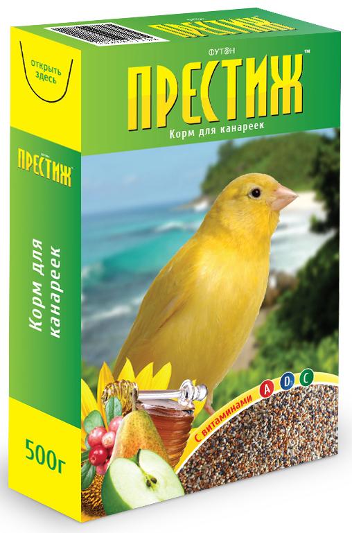 Корм Престиж для канареек, 500 г4627092860044Корм Престиж для Канареек - это готовая к употреблению зерносмесь из семян и зерна, выращенных в открытом грунте. Корм содержит все необходимые витамины и микроэлементы для нормального развития и жизни птицы, содержащейся в домашних условиях. Рекомендации по кормлению Одна чайная ложка зерносмеси в день на одну птицу. Питание и содержание канареек Канареек нельзя держать на одной зерновой диете. Обязательно нужно добавлять зелень, фрукты, камешки, измельченные рыбные кости и т. д. Канарейки и певчие птицы предпочитают пророщенное зерно любому другому корму. Пророщенное зерно богато витаминами А и Е, что Состав:ляет важную часть птичьей диеты. Но пророщенное зерно дается только как дополнение к основному корму, а не вместо него. Очевидно, что красота, сила и тональность песен канарейки зависят от Состав:а корма. Если их песни начинают терять свою силу, то следует добавить раздробленную коноплю в их рацион. Песни канарейки становятся очень громкими от большого...