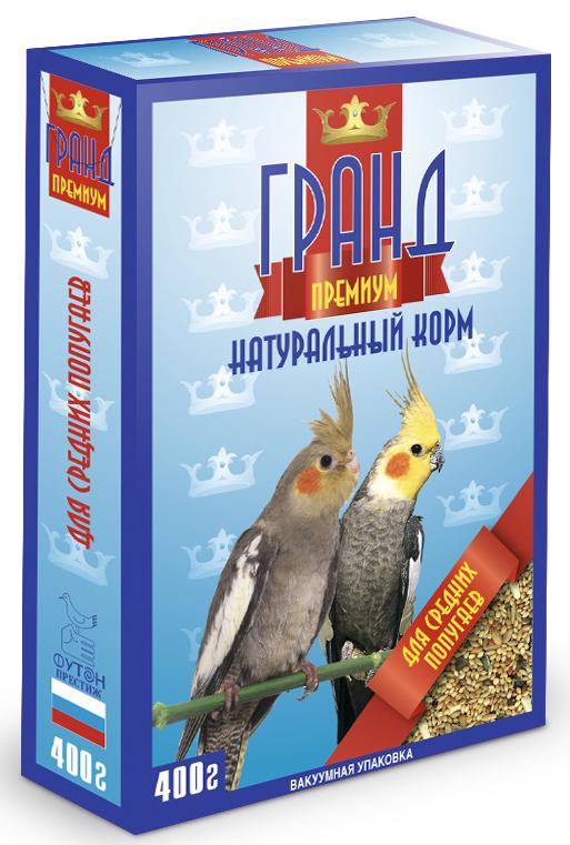 """Корм """"ГРАНД Премиум"""" для средних попугаев, 400г 4627092860273"""