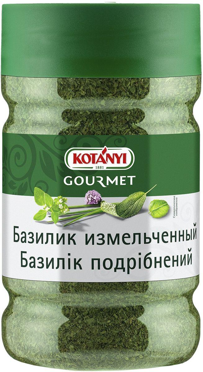 Kotanyi Базилик измельченный, 180 г240611Базилик обладает интенсивным пряным, перечным и сладковатым ароматом. Его нужно добавлять в блюда непосредственно перед сервировкой. Базилик - неотъемлемый ингредиент блюд итальянской и средиземноморской кухни. Он подходит к блюдам из томатов, рыбы, светлого мяса, пасты, салатов, супов, соусов. Кроме того, базилик придает пикантную нотку десертам, например, Панна Кота, щербетам и мороженому.