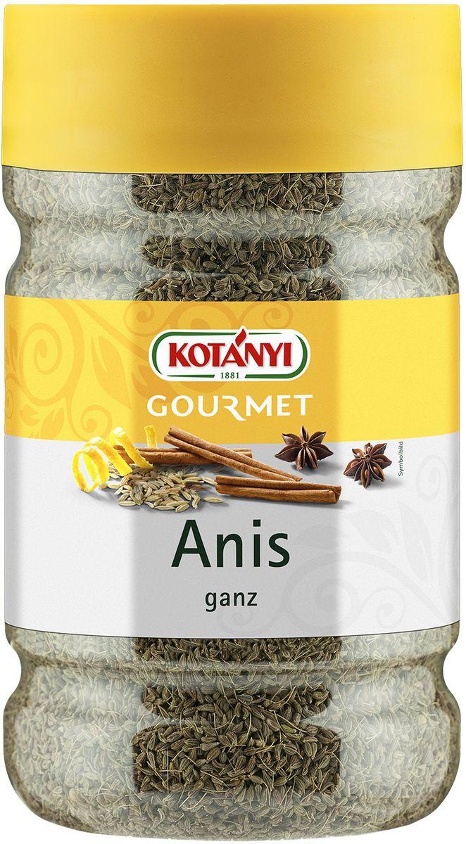 Kotanyi Анис целый, 520 г240301Анис Kotanyi придает блюдам сладковатый, пряный вкус, напоминающий вкус лакрицы. Он незаменим в индийской и китайской кухне, подходит как для основных блюд, так и для десертов. Придает тонкий аромат всем видам выпечки, курице, свинине, а также супам, соусам, пуншу и ликерам.