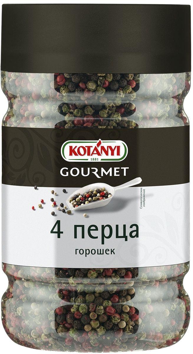 Kotanyi 4 перца горошек, 530 г2463114 перца горошек приправа Информация о продукте: это классическая смесь черного, белого, зеленого и так называемого розового перца, который на самом деле является плодами дерева Шинус. Черный перец – очень ароматная специя с острым вкусом, в то время как белый перец обладает более мягким вкусом. Зеленый перец придает тонкий пряный аромат. Розовый перец имеет мягкий вкус и легкий аромат. Применение: эта классическая смесь перцев пользуется большой популярностью, т.к. делает блюдо не только вкусным и ароматным, но и привлекательным. Состав: перец (черный, белый, зеленый, розовый). Может содержать следы глютеносодержащих злаков, яиц, сои, сельдерея, кунжута, орехов, горчицы, молока (лактозы), горчицы. Хранить плотно закрытым в сухом месте.