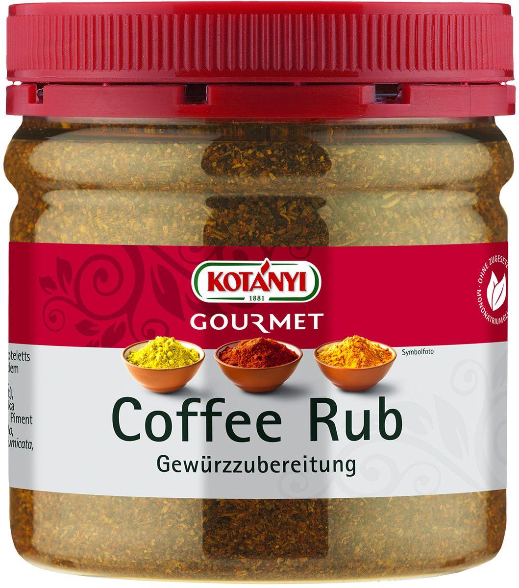 """Приправа """"Маринад кофейный сухой"""" Информация о продукте: для стейков, отбивных и филе, приготовленных на гриле и сковороде. Состав: соль морская йодированная (соль морская, йодат калия), кофе (20%) декофеинизированный, кориандр, коричневый сахар (сахар, сироп сахарного тростника, карамельный сироп), копченая паприка, лук, тмин, розмарин, тимьян, душистый перец. Может содержать следы глютеносодержащих злаков, яиц, сои, сельдерея, кунжута, орехов, горчицы, молока (лактозы). Пищевая ценность в 100 г: энергетическая ценность: 1104 кДж/263 кКал, белки 7,8 г, углеводы 28 г, жиры 8,4 г. Хранить плотно закрытым в сухом месте."""
