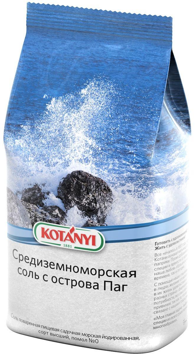Kotanyi Соль средиземноморская с острова Паг, 1 кг