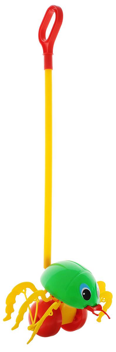 Спектр Игрушка-каталка Жук цвет зеленыйУ546Каталка с ручкой Спектр Жук предназначена для игрового развития малыша. Она станет отличным приспособлением для тренировки навыков координации и самостоятельного передвижения. Каталка оснащена удобной длинной ручкой, которую легко удерживать в руке. Игрушка будет стимулировать ребенка ходить и бегать без помощи посторонних во время веселых игр на свежем воздухе. При движении каталки лапки жука шевелятся. Все элементы изготовлены из качественного экологичного пластика, безопасного для здоровья ребенка.