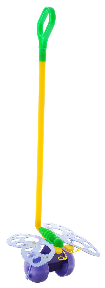 Спектр Игрушка-каталка Бабочка цвет сиреневыйУ514_сиреневыйКаталка с ручкой Спектр Бабочка предназначена для игрового развития малыша. Она станет отличным приспособлением для тренировки навыков координации и самостоятельного передвижения. Каталка оснащена удобной длинной ручкой, которую легко удерживать в руке. Игрушка будет стимулировать ребенка ходить и бегать без помощи посторонних во время веселых игр на свежем воздухе. При движении каталки крылья бабочки шевелятся. Все элементы изготовлены из качественного экологичного пластика, безопасного для здоровья ребенка.