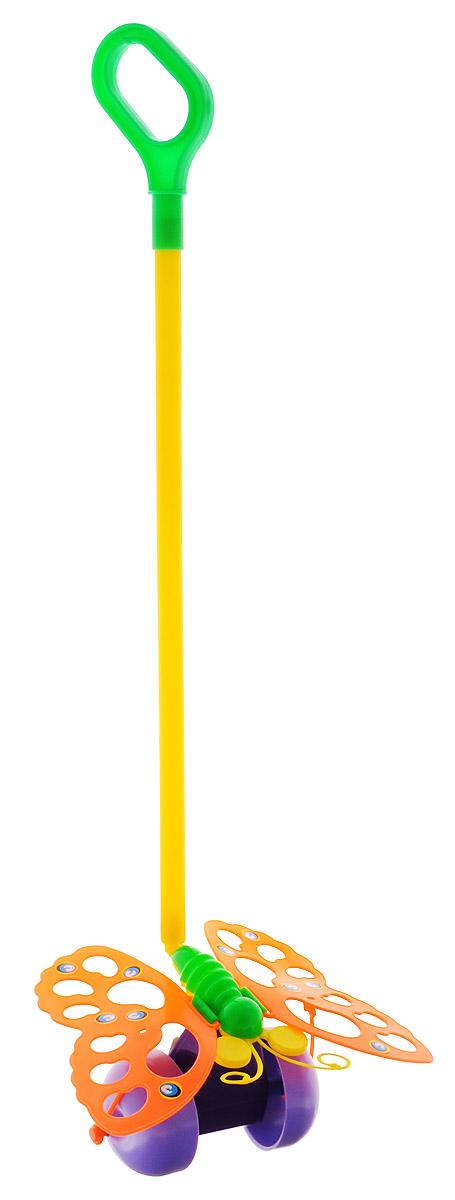 Спектр Игрушка-каталка Бабочка цвет оранжевыйУ514Каталка с ручкой Спектр Бабочка предназначена для игрового развития малыша. Она станет отличным приспособлением для тренировки навыков координации и самостоятельного передвижения. Каталка оснащена удобной длинной ручкой, которую легко удерживать в руке. Игрушка будет стимулировать ребенка ходить и бегать без помощи посторонних во время веселых игр на свежем воздухе. При движении каталки крылья бабочки шевелятся. Все элементы изготовлены из качественного экологичного пластика, безопасного для здоровья ребенка.
