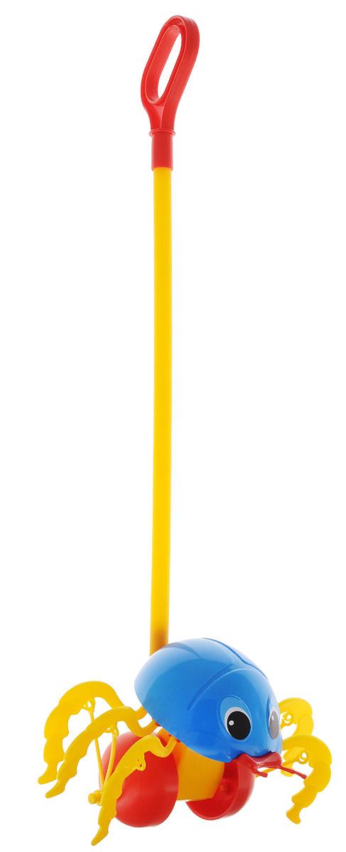 Спектр Игрушка-каталка Жук цвет синийУ546_синийКаталка с ручкой Спектр Жук предназначена для игрового развития малыша. Она станет отличным приспособлением для тренировки навыков координации и самостоятельного передвижения. Каталка оснащена удобной длинной ручкой, которую легко удерживать в руке. Игрушка будет стимулировать ребенка ходить и бегать без помощи посторонних во время веселых игр на свежем воздухе. При движении каталки лапки жука шевелятся. Все элементы изготовлены из качественного экологичного пластика, безопасного для здоровья ребенка.