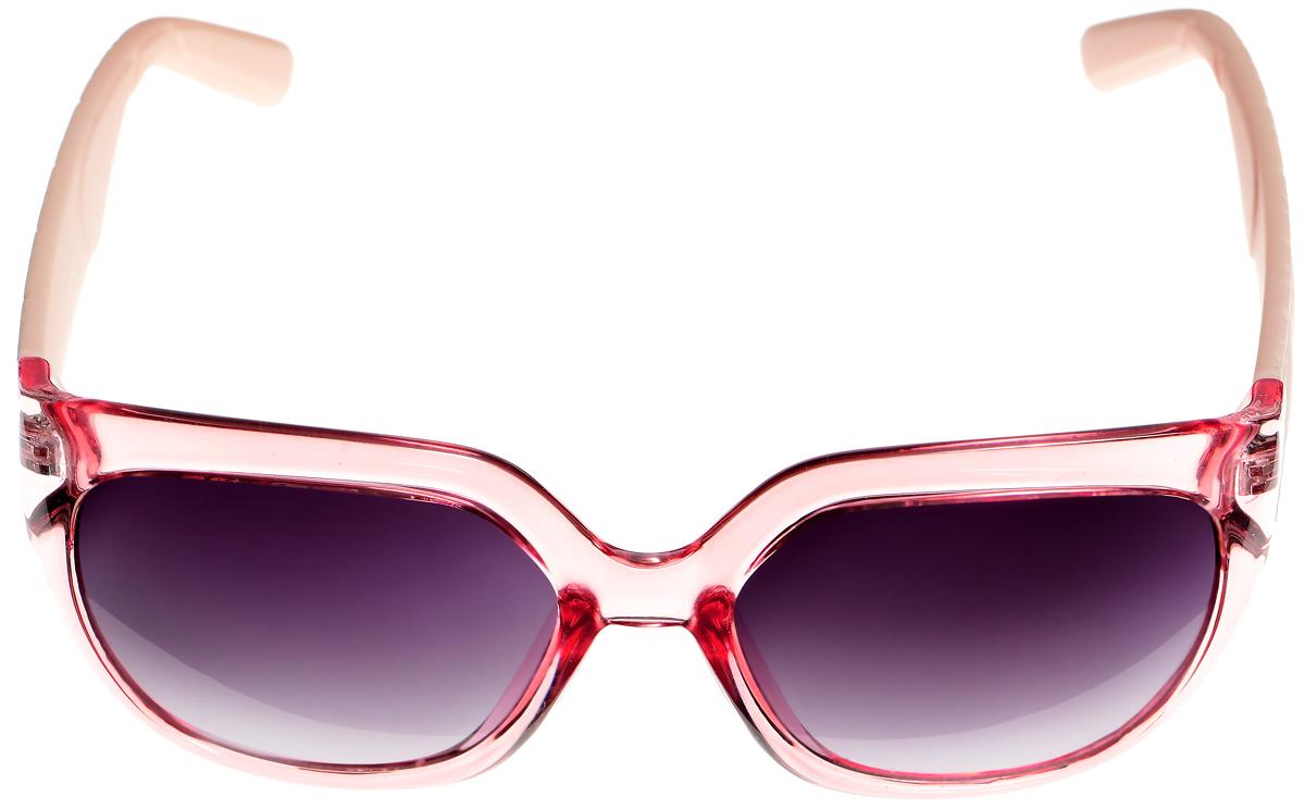 Очки солнцезащитные женские Selena, цвет: розовый, светло-персиковый, серый. 8003338180033381Солнцезащитные женские очки Selena выполнены из высококачественного пластика. Дужки оформлены геометрическим орнаментом и имеют бархатистую поверхность. Линзы данных очков с высокоэффективным фильтром UV-400 Protection обеспечивают полную защиту от ультрафиолетовых лучей. Используемый пластик не искажает изображение, не подвержен нагреванию и вредному воздействию солнечных лучей. Такие очки защитят глаза от ультрафиолетовых лучей, подчеркнут вашу индивидуальность и сделают ваш образ завершенным.