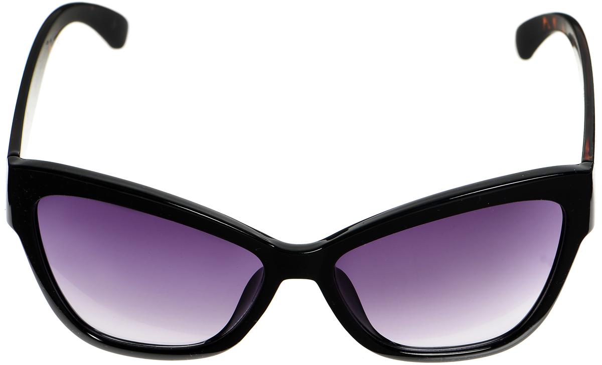 Очки солнцезащитные женские Selena, цвет: черный. 8003326180033261Солнцезащитные женские очки Selena выполнены из металла с элементами из высококачественного пластика. Дужки и мостик оформлены декоративной резьбой. Линзы данных очков с высокоэффективным фильтром UV-400 Protection обеспечивают полную защиту от ультрафиолетовых лучей. Используемый пластик не искажает изображение, не подвержен нагреванию и вредному воздействию солнечных лучей. Такие очки защитят глаза от ультрафиолетовых лучей, подчеркнут вашу индивидуальность и сделают ваш образ завершенным.