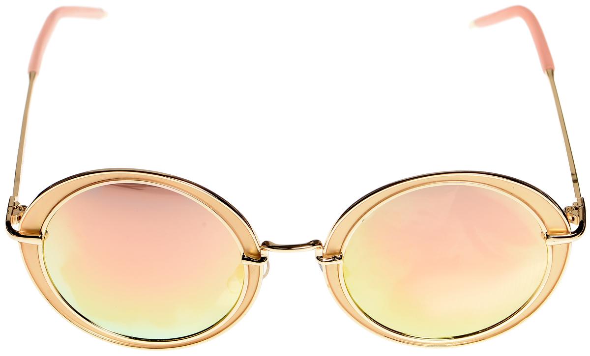 Очки солнцезащитные женские Selena, цвет: золотистый, розовый. 8003398180033981Солнцезащитные женские очки Selena выполнены из высококачественного пластика. Дужки дополнены вставками из прорезиненного материала. Линзы данных очков с высокоэффективным фильтром UV-400 Protection обеспечивают полную защиту от ультрафиолетовых лучей и имеют зеркальную поверхность. Используемый пластик не искажает изображение, не подвержен нагреванию и вредному воздействию солнечных лучей. Такие очки защитят глаза от ультрафиолетовых лучей, подчеркнут вашу индивидуальность и сделают ваш образ завершенным.