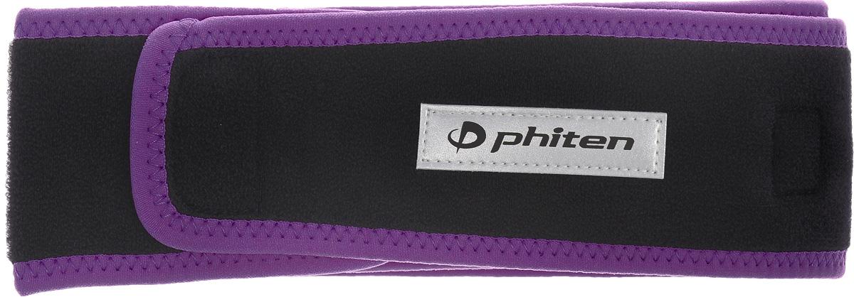 Суппорт для спины Phiten Sport, цвет: черный, фиолетовый, длина 85 смAP200460Суппорт для спины Phiten Sport отлично помогает, разгружая поясницу при беге, при занятии фитнесом или другим видом спорта. За счет усиления кровотока физическая нагрузка покажется вам легче. Жесткий ремень пропитан акватитаном и содержит микротитановые шарики по всей внутренней длине. Пояс обеспечивает компрессионный и фиксирующий эффект в области поясницы при физических нагрузках и беге. Избавит от боли и напряжения. Стимулирует процессы восстановления тканей, поможет скорее перенести период реабилитации после травм спины. Изделие крепится при помощи двух липучек. Такой пояс - наилучший подарок для профессионального спортсмена или спортсмена- любителя, который не только облегчает физические нагрузки в процессе упражнений, но и позже помогает снять напряжение с мышц. Длина: 85 см. Ширина: 6,5 см.