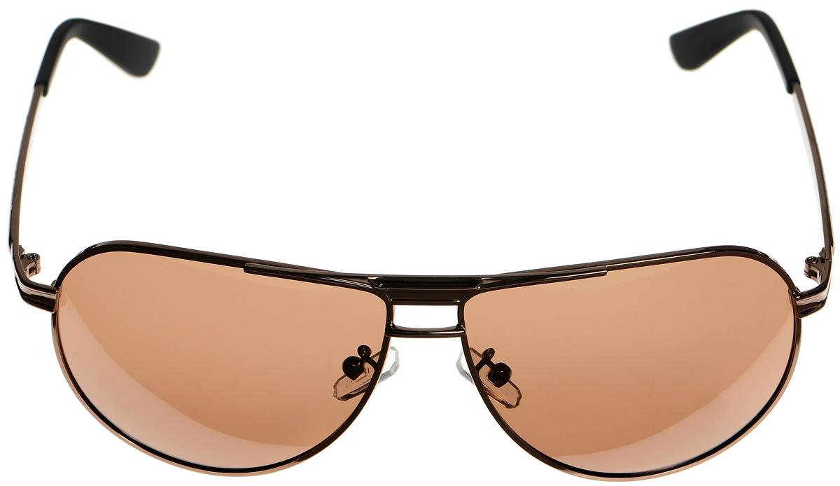Очки солнцезащитные женские Selena, цвет: темно-коричневый, черный. 8003314180033141Солнцезащитные женские очки Selena выполнены из металла с элементами из высококачественного пластика. Дужки оформлены декоративной резьбой. Линзы данных очков с высокоэффективным фильтром UV-400 Protection обеспечивают полную защиту от ультрафиолетовых лучей. Используемый пластик не искажает изображение, не подвержен нагреванию и вредному воздействию солнечных лучей. Такие очки защитят глаза от ультрафиолетовых лучей, подчеркнут вашу индивидуальность и сделают ваш образ завершенным.