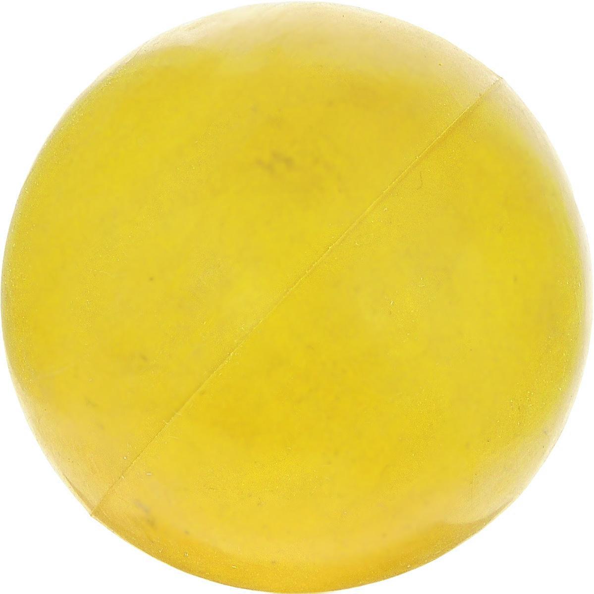 """Игрушка для собак ЗооМарк """"Мячик"""", цвет: желтый, диаметр 6,5 см д-65_желтый"""