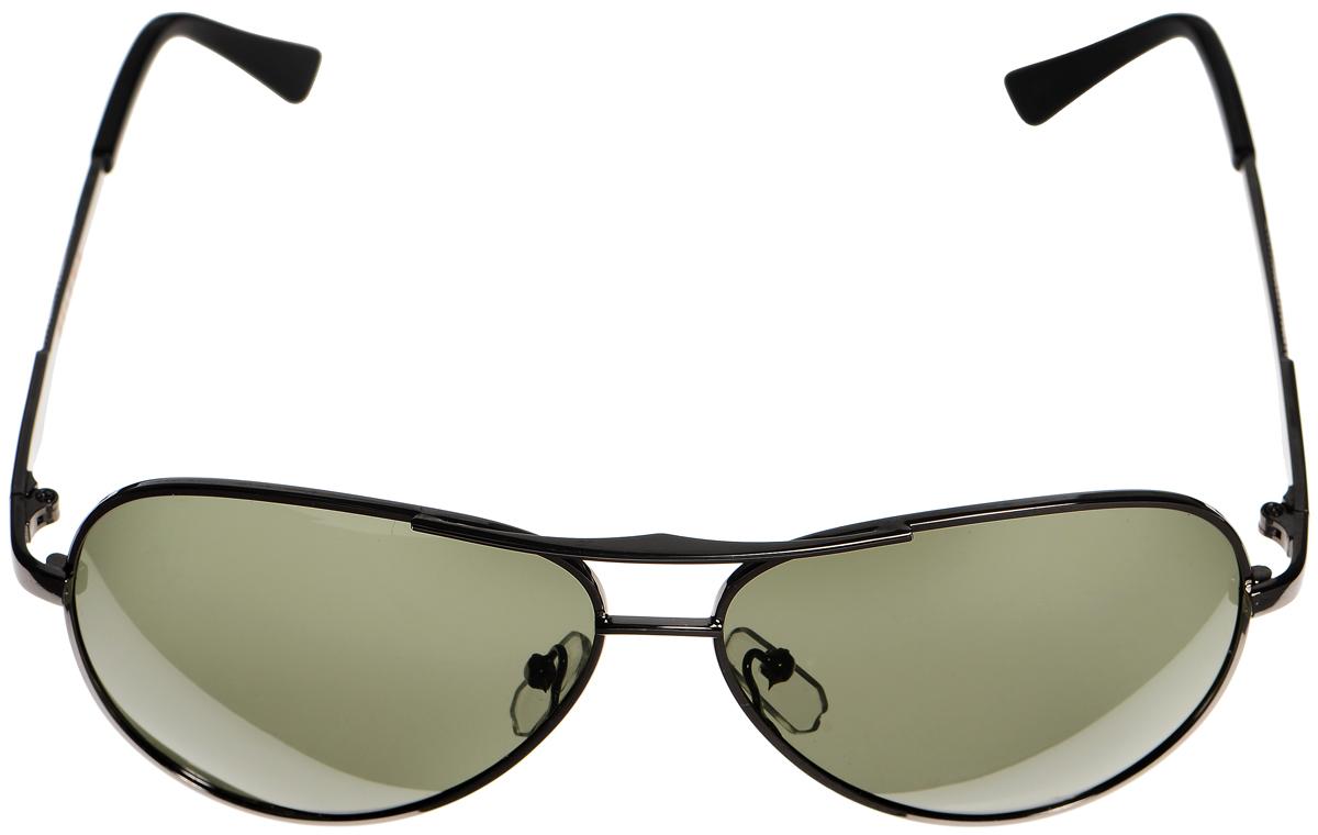 Очки солнцезащитные женские Selena, цвет: темно-зеленый, серый. 8003302180033021Солнцезащитные женские очки Selena выполнены из металла с элементами из высококачественного пластика. Дужки оформлены декоративными элементами. Линзы данных очков с высокоэффективным фильтром UV-400 Protection обеспечивают полную защиту от ультрафиолетовых лучей. Используемый пластик не искажает изображение, не подвержен нагреванию и вредному воздействию солнечных лучей. Такие очки защитят глаза от ультрафиолетовых лучей, подчеркнут вашу индивидуальность и сделают ваш образ завершенным.