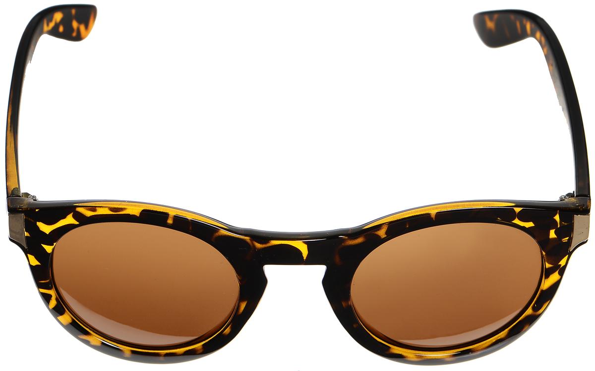 Очки солнцезащитные женские Selena, цвет: темно-коричневый, золотистый. 8003330180033301Солнцезащитные женские очки Selena выполнены из высококачественного пластика. Дужки оформлены оригинальным рисунком и металлическими вставками. Линзы данных очков с высокоэффективным фильтром UV-400 Protection обеспечивают полную защиту от ультрафиолетовых лучей. Используемый пластик не искажает изображение, не подвержен нагреванию и вредному воздействию солнечных лучей. Такие очки защитят глаза от ультрафиолетовых лучей, подчеркнут вашу индивидуальность и сделают ваш образ завершенным.