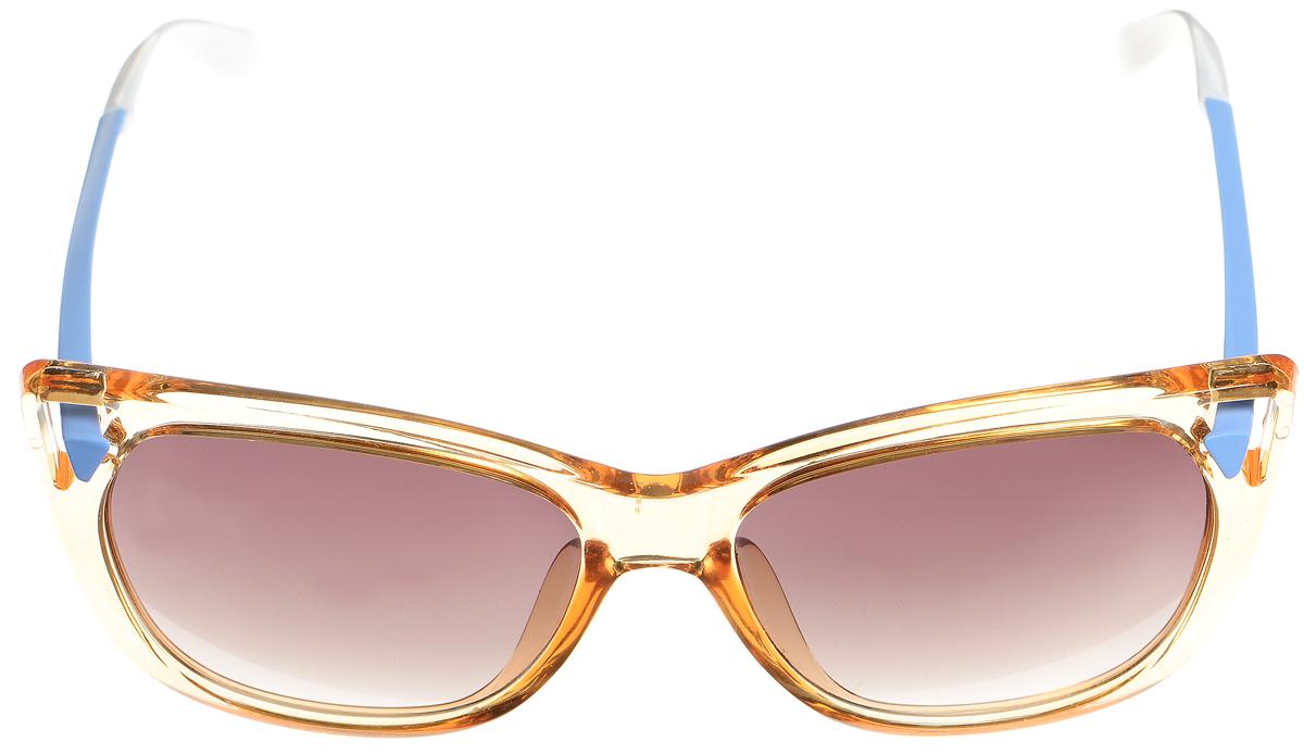 Очки солнцезащитные женские Selena, цвет: коричневый, голубой, белый. 8003356180033561Солнцезащитные женские очки Selena выполнены из высококачественного пластика и оформленные в разной цветовой гамме. Линзы данных очков с высокоэффективным фильтром UV-400 Protection обеспечивают полную защиту от ультрафиолетовых лучей. Используемый пластик не искажает изображение, не подвержен нагреванию и вредному воздействию солнечных лучей. Такие очки защитят глаза от ультрафиолетовых лучей, подчеркнут вашу индивидуальность и сделают ваш образ завершенным.