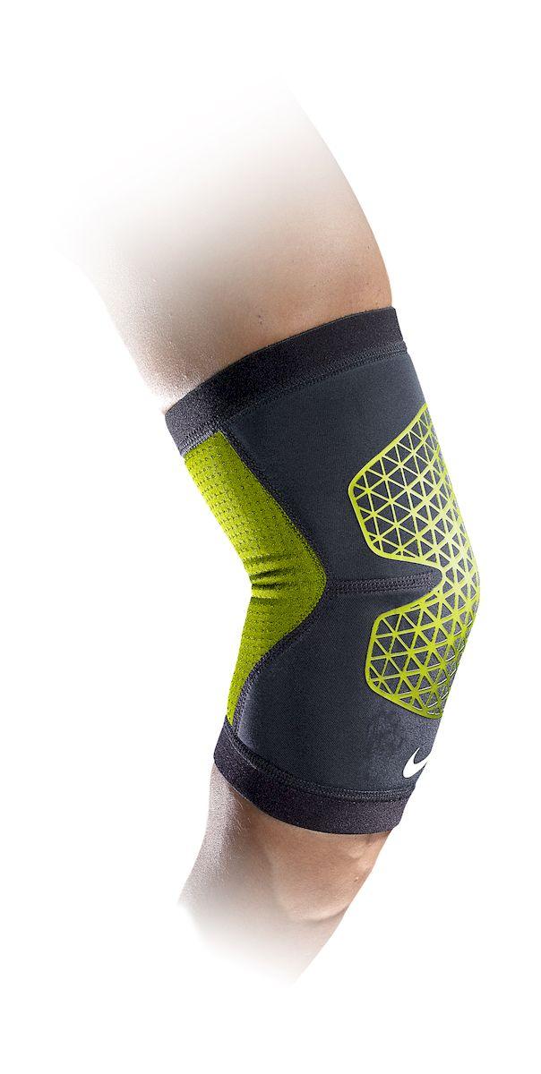 Налокотник Nike, цвет: черный, желтый. Размер LN.MS.35.023.LGНалокотник Nike. Легкий материал Airprene держит мышцы в тепле, что обеспечивает дополнительную поддержку и защищает от растяжений. Высокая степень регуляции воздуза и тепла. Контурный дизайн и конструкция обеспечивает свободу движений. Износостойкий.