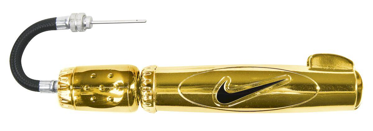 Насос для мячей Nike двойного действия, цвет: золотой, черный