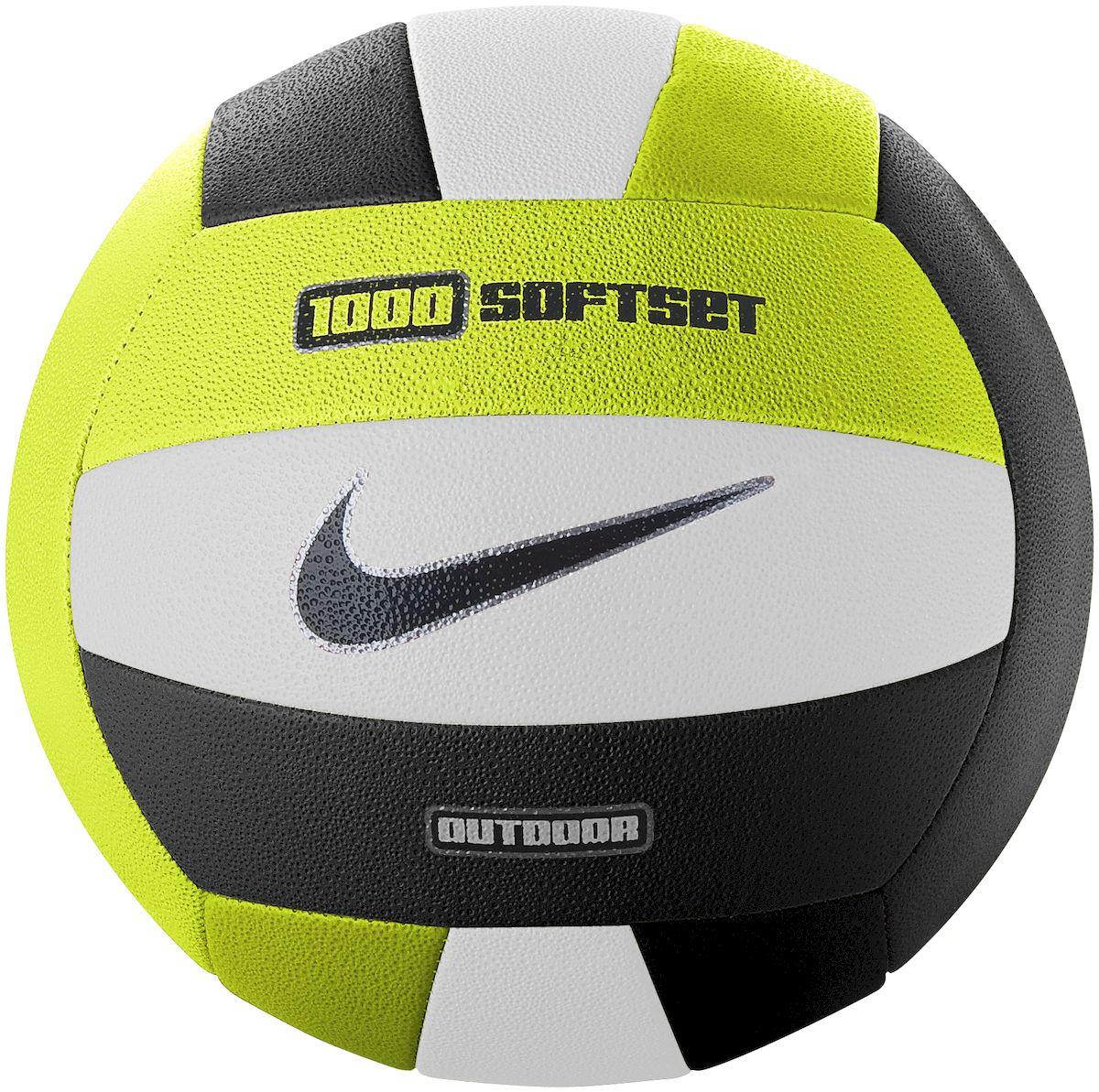 """Мяч волейбольный """"Nike"""", для игры на открытых площадках, цвет: желтый, белый, черный"""