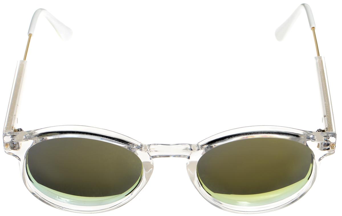 Очки солнцезащитные женские Selena, цвет: белый, золотистый. 8003333180033331Солнцезащитные женские очки Selena выполнены из высококачественного пластика с элементами из металла. Линзы данных очков с высокоэффективным фильтром UV-400 Protection обеспечивают полную защиту от ультрафиолетовых лучей. Используемый пластик не искажает изображение, не подвержен нагреванию и вредному воздействию солнечных лучей. Такие очки защитят глаза от ультрафиолетовых лучей, подчеркнут вашу индивидуальность и сделают ваш образ завершенным.