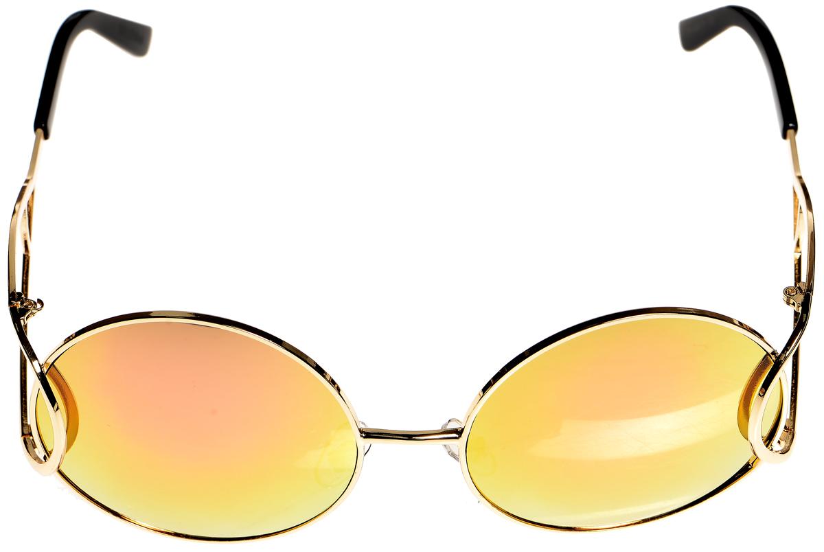 Очки солнцезащитные женские Selena, цвет: золотистый, розовый, черный. 8003396180033961Солнцезащитные женские очки Selena выполнены из металла с элементами из высококачественного пластика. Дужки имеют оригинальную форму. Линзы данных очков с высокоэффективным фильтром UV-400 Protection обеспечивают полную защиту от ультрафиолетовых лучей и имеют зеркальную поверхность. Используемый пластик не искажает изображение, не подвержен нагреванию и вредному воздействию солнечных лучей. Такие очки защитят глаза от ультрафиолетовых лучей, подчеркнут вашу индивидуальность и сделают ваш образ завершенным.