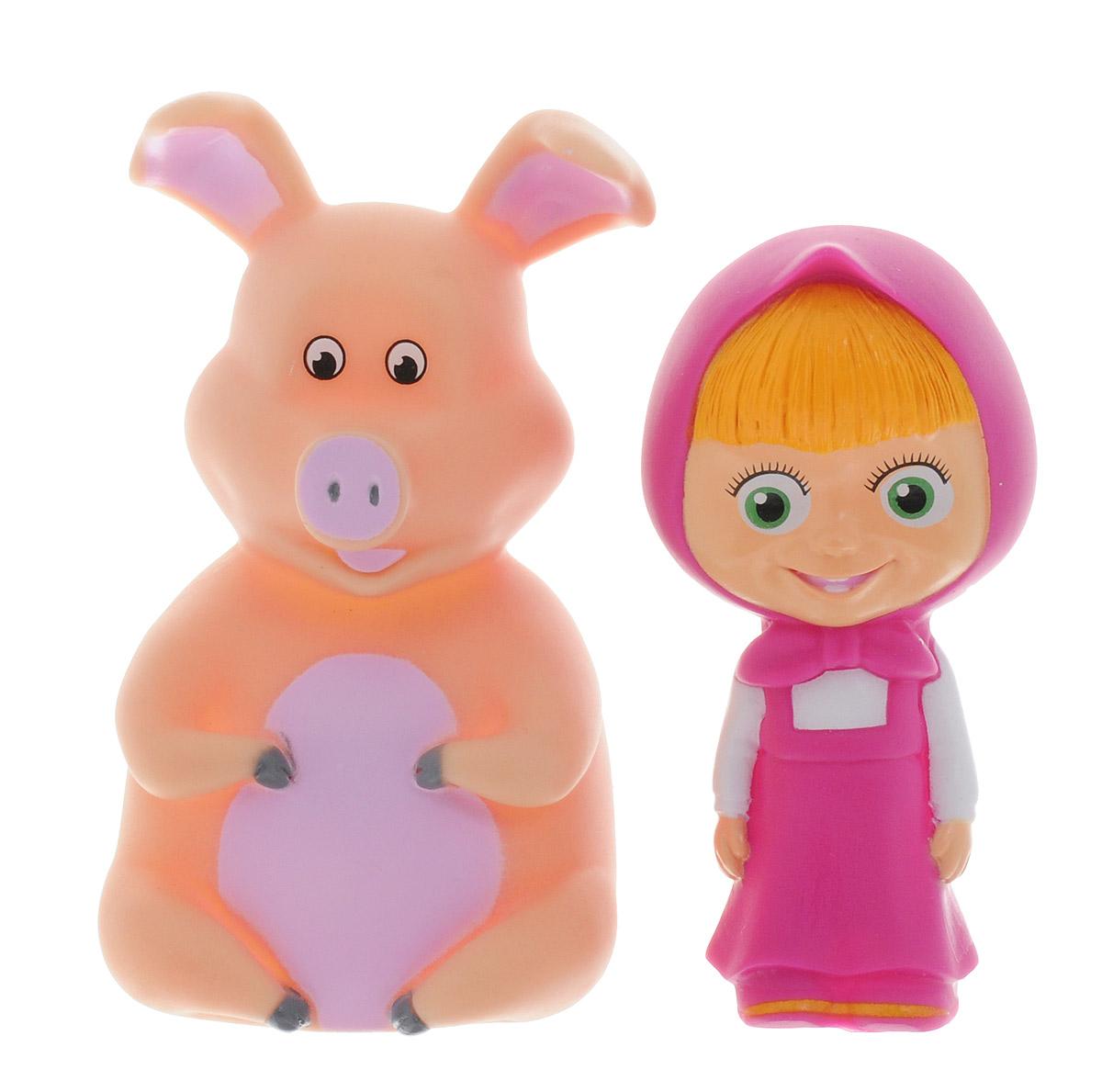Играем вместе Набор игрушек для ванной Маша и свинья 2 шт165R-166R-167R-PVC_свиньяС набором игрушек для ванной Играем вместе Маша и свинья принимать водные процедуры станет еще веселее и приятнее. В набор входят 2 игрушки в виде Маши и свинки - героев популярного мультфильма Маша и Медведь. Игрушки могут брызгать водой и пищать. Набор доставит ребенку большое удовольствие и поможет преодолеть страх перед купанием. Игрушки для ванной способствуют развитию воображения, цветового восприятия, тактильных ощущений и мелкой моторики рук.