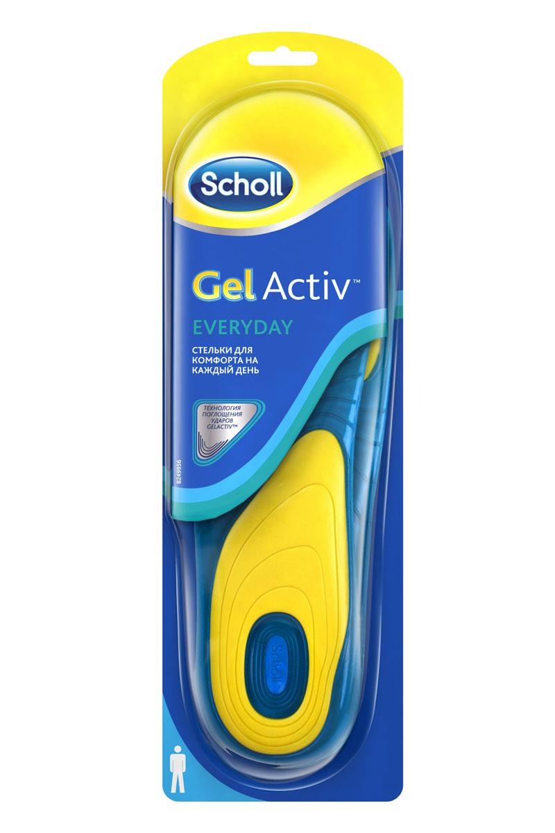 Scholl GelActiv Everyday Стельки для комфорта на каждый день для мужчин. Размер 42/475999Удваивает комфорт вашей обуви. Амортизирует удары на протяжении всего дня. Характеристики стельки: мягкий голубой гель для амортизации; более жесткий желтый гель для поддержки свода стопы; стельки смягчают удар ноги при каждом шаге, обеспечивая необходимую поддержку стопы, давая вам энергию, с которой хочется двигаться больше. Превосходная амортизация, уникальная форма, разработанная специально под каждую активность поддержат вас, что бы вы ни делали – работали, занимались спортом или танцевали всю ночь! Обрежьте под свой размер, поместите вместо обычной стельки гелевой стороной вниз. Меняйте стельку каждые 6 месяцев или при первых признаках износа. Можно стирать. 100% термопластичный эластомер. Вес - 280 г.