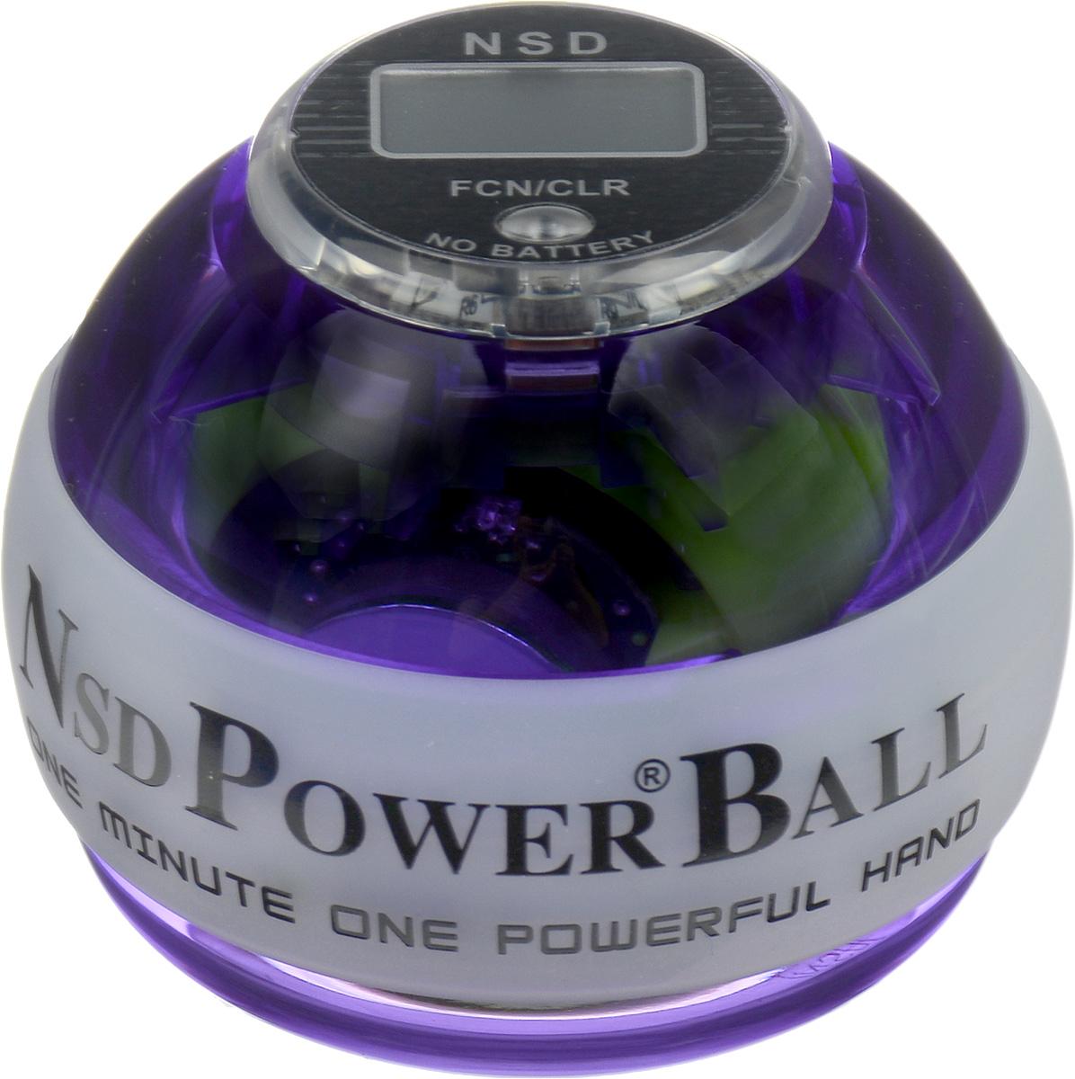 Тренажер Кистевой NSD Power Powerball Multi Light ProPB-688 MLCNSD Power Powerball Multi Light Pro - новая, улучшенная модель со встроенным счетчиком и яркой подсветкой хамелеон. Шар имеет светодиоды, которые горят за счет встроенной динамо-машины. При изменении скорости вращения тренажер светится тремя разными цветами. Модель прослужит вам гораздо дольше. Добиться этого удалось за счет материала с большей прочностью, и применения технологии, служащей для амортизации удара и поглощению его силы в случае падении тренажера. Кроме того, тренажер снабжен системой сменных колец, при помощи которых его можно быстро и без труда отремонтировать. Еще одним плюсом данной модели является счетчик, работающий без батареек. В комплект входят инструкция и два шнурка для раскрутки. Тренажер подходит как для развлечения, так и для постоянных тренировок или в виде разминки для полноценной спортивной тренировки. Размер тренажера: 6 х 7,5 см.