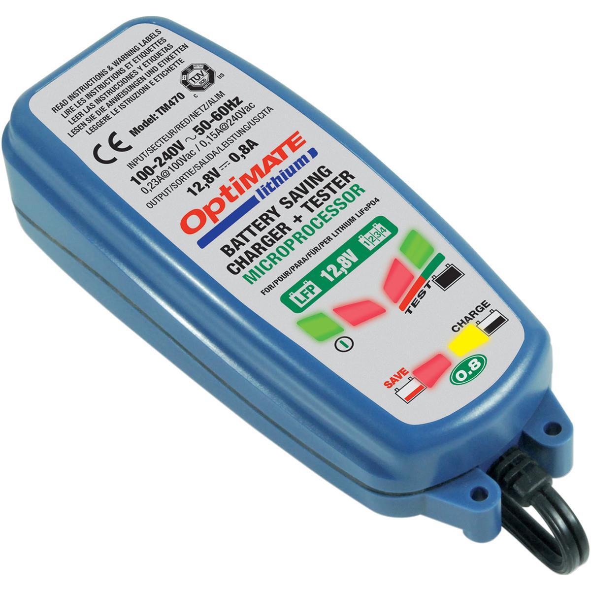 Зарядное устройство OptiMate Lithium 0,8А. TM470TM470Многоступенчатое устройство Optimate от бельгийской компании TecMate с режимами тестирования, восстановления глубокоразряженных аккумуляторных батарей и хранения. Управление полностью автоматическое без кнопок. Заряжает только литий-ионные аккумуляторные батареи, выполненные по технологии LiFePo4. Защита от короткого замыкания, переполюсовки, искрообразования, перегрева. Оптимизирует срок службы и здоровье аккумуляторной батареи. Влагозащищенный корпус. Рекомендовано 10-ю ведущими производителями мототехники. OptiMate Lithium 0,8А рекомендуется для LiFePo4 АКБ от 2Ач до 50 Ач. Ток зарядки 0,8А. Старт заряда АКБ от 0,5В. Температурный режим -20...+40С. В комплект устройства входят аксессуары O1 кольцевой разъем постоянного подключения и O4 зажимы типа крокодил.