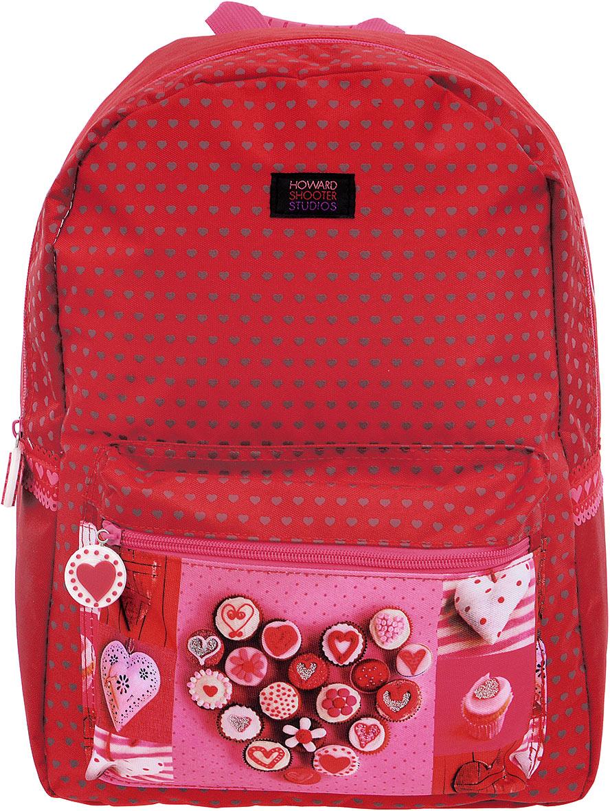 Proff Рюкзак детский Hearts цвет красныйHS16-BP-01Детский рюкзак Hearts - это красивый и удобный рюкзак, который подойдет всем, кто хочет разнообразить свои будни. Рюкзак выполнен из плотного материала и оформлен ярким принтом с блестками и сердечками. Рюкзак имеет одно основное вместительное отделения на молнии. Внутри отделения расположен мягкий карман для планшета или ноутбука. На лицевой стороне расположен накладной карман на молнии. Внутри кармашка имеется лента с карабином для ключей. Рюкзак также оснащен удобной прорезиненной ручкой для переноски. Широкие лямки можно регулировать по длине. Многофункциональный детский рюкзак станет незаменимым спутником вашего ребенка.